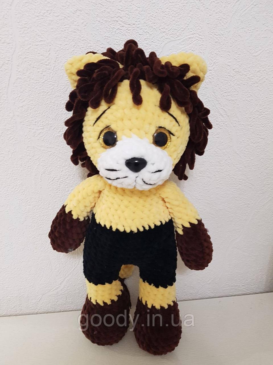 М'яка іграшка лев із плюшевої пряжі 40 cm