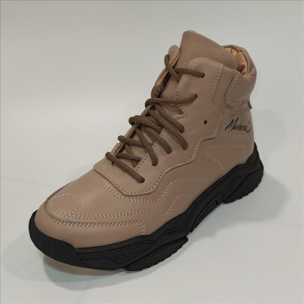 Женские бежевые ботинки на осень, Masheros размер 35 39 40