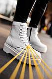 Ботинки женские зимние Dr. Martens Jadon full white (Мех), зимние ботинки Мартенс (Реплика ААА), фото 7