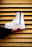 Ботинки женские зимние Dr. Martens Jadon full white (Мех), зимние ботинки Мартенс (Реплика ААА), фото 4