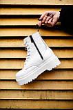 Ботинки женские зимние Dr. Martens Jadon full white (Мех), зимние ботинки Мартенс (Реплика ААА), фото 5