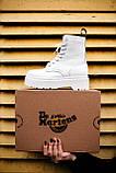Ботинки женские зимние Dr. Martens Jadon full white (Мех), зимние ботинки Мартенс (Реплика ААА), фото 6
