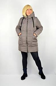 Куртка зимняя теплая с капюшоном серый - Модель Х19