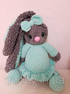 М'яка іграшка заєць із плюшевої пряжі 40 cm