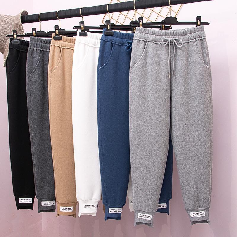 Теплые трикотажные штаны с нашивками 42-50 (в 12 расцветках)
