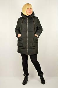 Куртка зимняя теплая с капюшоном черный - Модель Х20