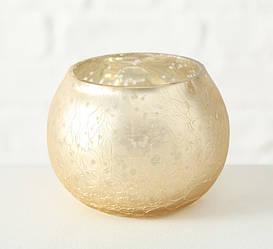 Подсвечник шар лакированное стекло h6см  1016447