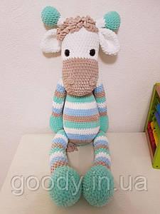 М'яка іграшка жираф із плюшевої пряжі 70 cm