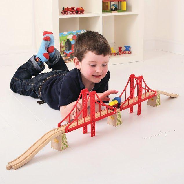 Мост двойной для деревянной железной дороги Bigjigs