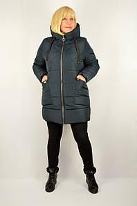 Куртка зимняя теплая с капюшоном морская волна - Модель Х21