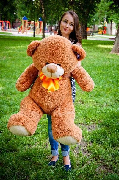 М'яка іграшка плюшевий ведмедик з гіпоалергенного матеріалу Бойд 125 см Коричневий