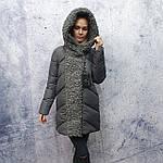 Жіноча зимова куртка Evacana E20W014M Жіноча зимова куртка великого розміру., фото 2