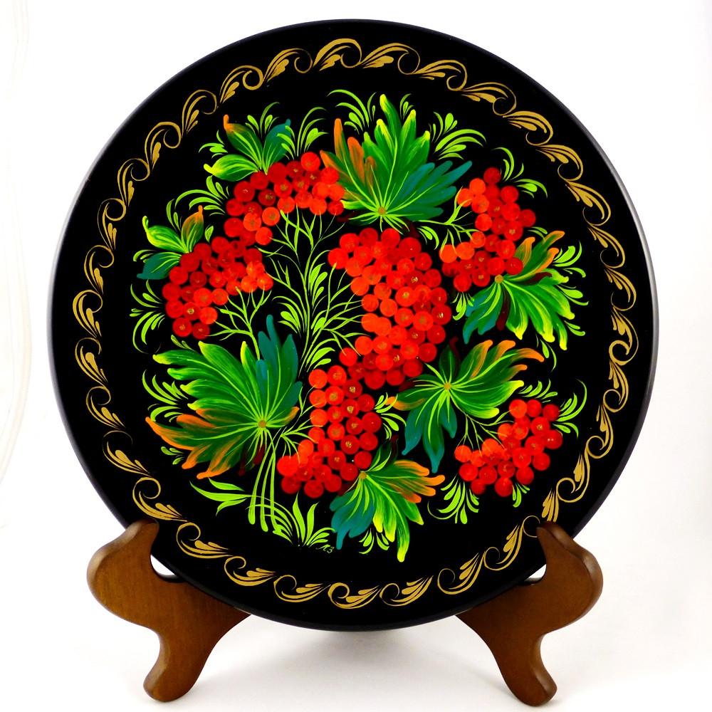 Тарелка деревянная Калина