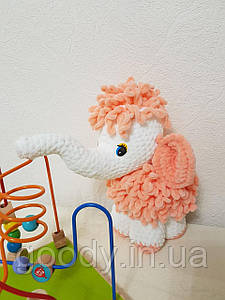 М'яка іграшка мамонт із плюшевої пряжі 25 cm