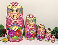 Матрешки большие 19 см деревянные из 5 кукол ручная роспись