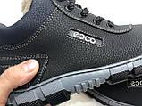 40,р. Чоловічі зимові черевики прошиті на хутрі. Спортивні з екка шкіри Остання пара, фото 8