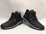 40,р. Чоловічі зимові черевики прошиті на хутрі. Спортивні з екка шкіри Остання пара, фото 5