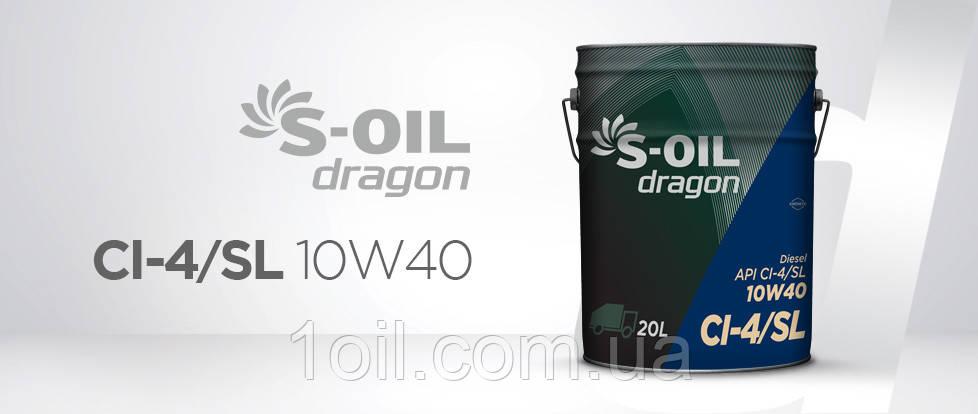Масло моторное DRAGON CI-4/SL 10W40  4 л.