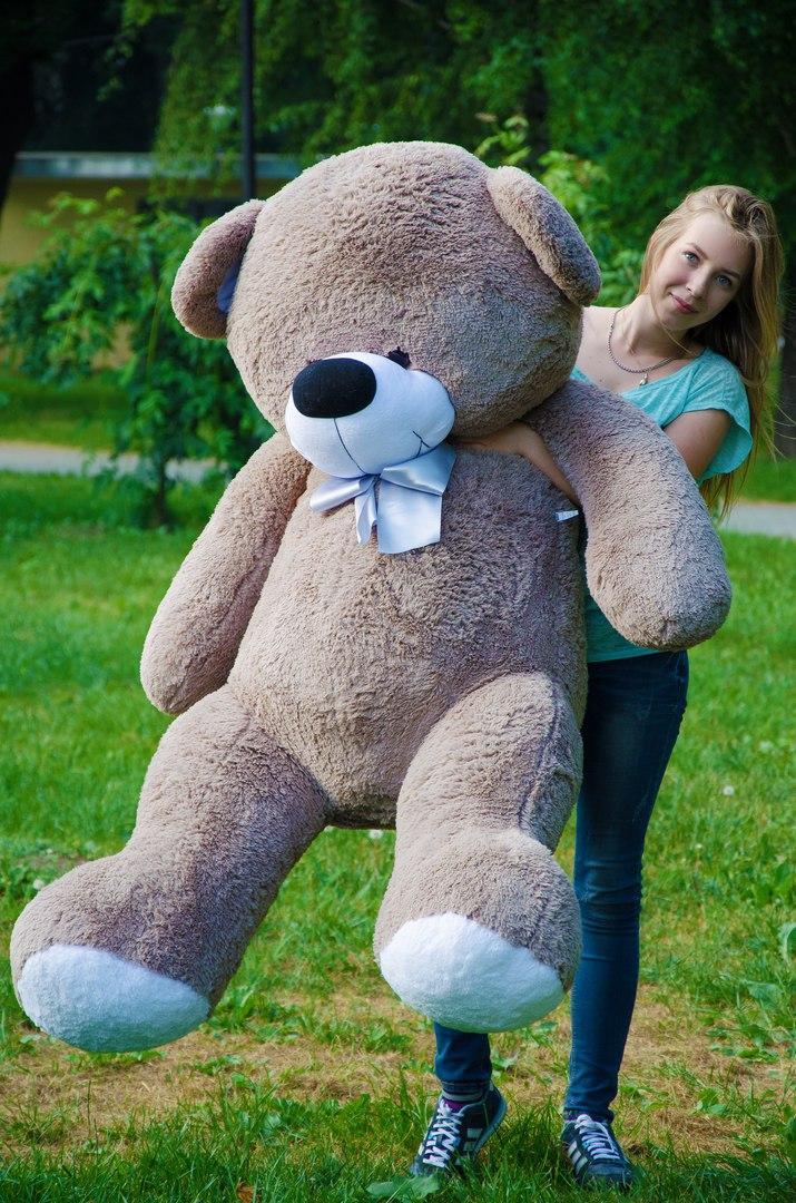 М'яка іграшка плюшевий ведмедик з гіпоалергенного матеріалу Бойд 200 см Капучіно