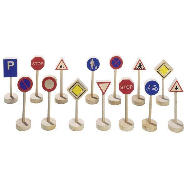 Набор знаков для деревянных дорог фирмы Goki