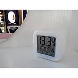 Часы хамелеон с термометром будильник ночник, фото 3