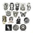 Набор стикеров Tattoo (black-white) (stk-026) (50 шт.), фото 2