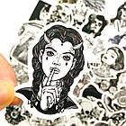 Набор стикеров Tattoo (black-white) (stk-026) (50 шт.), фото 4