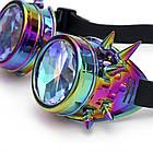 Очки Стимпанк цвет бензин с шипами и эффектом калейдоскоп (SPG-008), фото 2