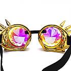 Очки Стимпанк цвет бензин с шипами и эффектом калейдоскоп (SPG-008), фото 4