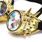 Очки Стимпанк цвет бензин с шипами и эффектом калейдоскоп (SPG-008), фото 6