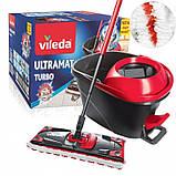 Набор для уборки Vileda Ultramat Turbo (швабра и ведро с отжимом) (4023103206236), фото 2
