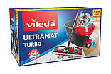 Набор для уборки Vileda Ultramat Turbo (швабра и ведро с отжимом) (4023103206236), фото 3