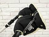Рукавички-Муфта на коляску Ok Style Sport (Черный), фото 4