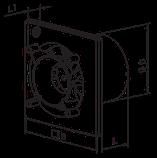 Вентилятор осевой Вентс 100 Эйс ТН , вытяжной, таймер, датчик влажности, 8Вт, объем 90м3/ч, 220В, фото 5