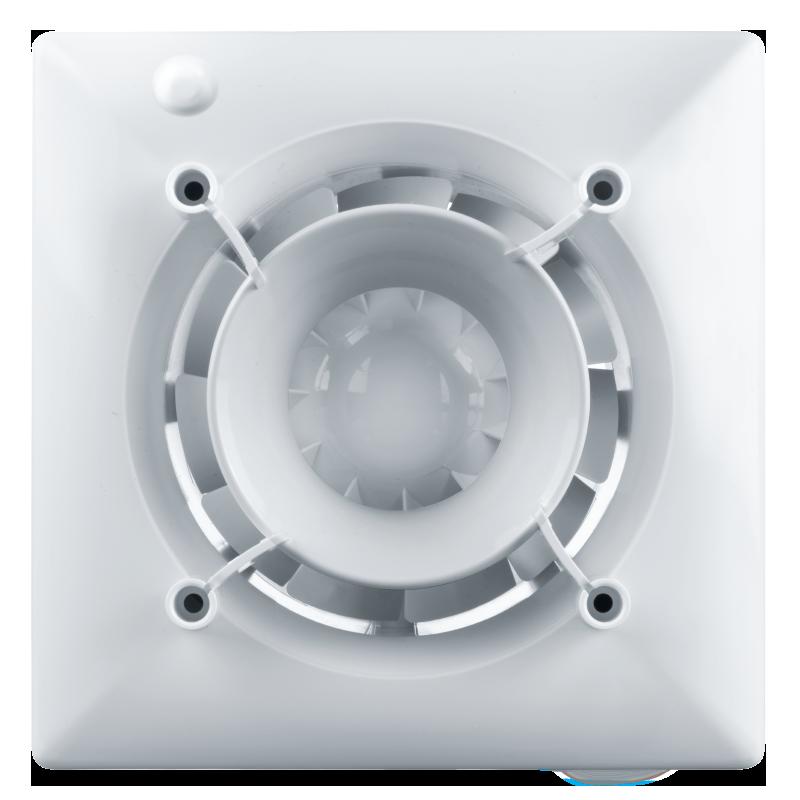 Вентилятор осевой Вентс 100 Эйс ТН , вытяжной, таймер, датчик влажности, 8Вт, объем 90м3/ч, 220В