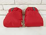 Рукавички-Муфта на коляску Ok Style Sport (Красный), фото 3
