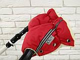 Рукавички-Муфта на коляску Ok Style Sport (Красный), фото 4