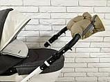 Рукавички-Муфта на коляску Ok Style Sport (Капучино), фото 5