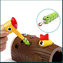 Магнитная игра червячки в дупле, Накорми птенца, покорми птичку, фото 5