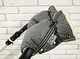 Рукавички-Муфта на коляску Ok Style Sport (Лен Серый), фото 4