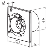 Вентилятор осевой Вентс 100 Эйс Т, вытяжной, таймер, мощность 8Вт, объем 90м3/ч, 220В, гарантия 5лет, фото 5