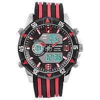 Часы мужские спортивные наручные QUAMER 1508, dual time, ремешок каучук