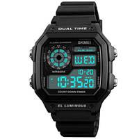 Часы мужские спортивные наручные 1299 SKMEI, черный