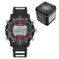 Часы мужские спортивные наручные QUAMER 1604, Box, ремешок каучук, dual time, waterproof