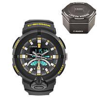 Часы мужские спортивные наручные  C-SHOCK GA-500 Black-Yellow, Box