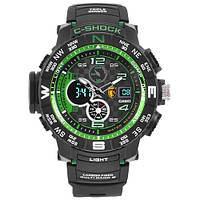Часы мужские спортивные наручные  C-SHOCK GPW-2000 Black-Green