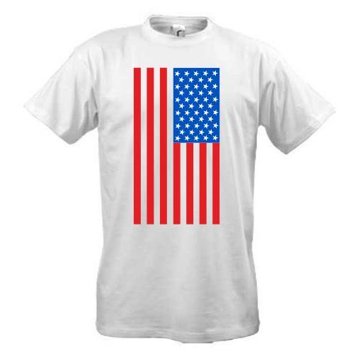 Футболка с американским флагом
