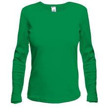 Зелений жіночий лонгслив