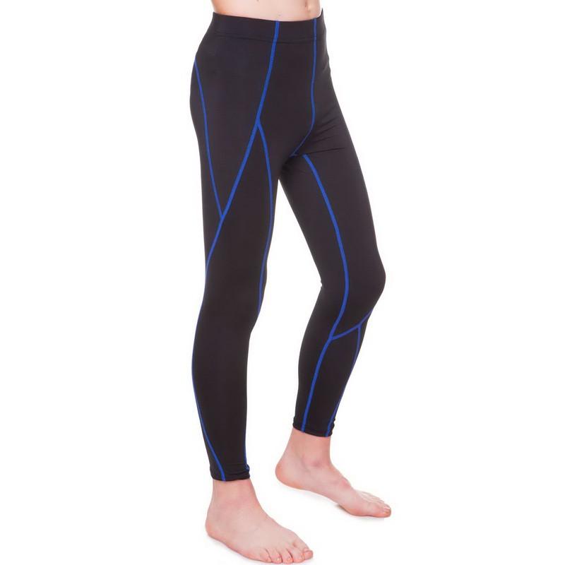 Штаны подростковые компрессионные черно-синие LD-1202T