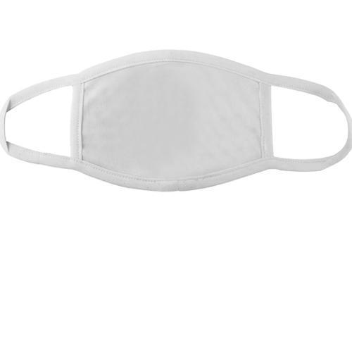 Біла багаторазова маска для обличчя